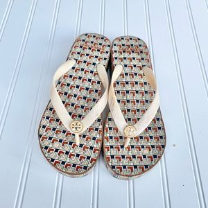 Tory Burch platform flip flop thong sandal